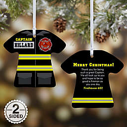 Firefighter Uniform Christmas Ornament Collection