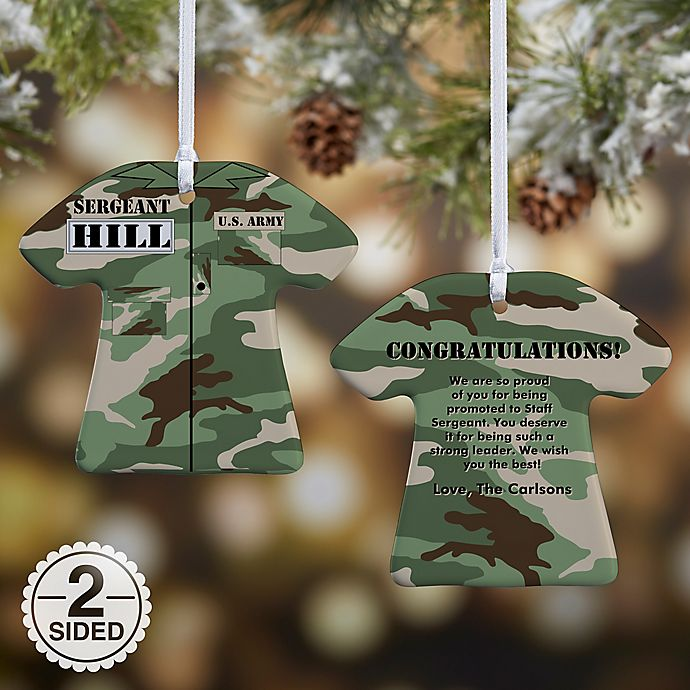 Alternate image 1 for Army Uniform Christmas Ornament Collection