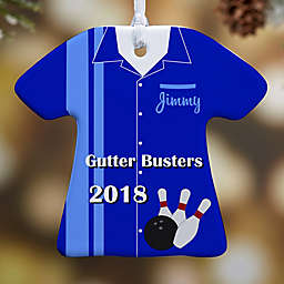 Bowling T-Shirt Christmas Ornament Collection