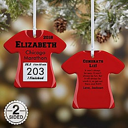 Race Day T-Shirt 2-Sided Christmas Ornament