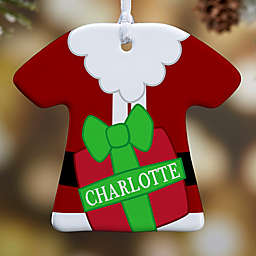 Santa's Little Helper T-Shirt 1-Sided Christmas Ornament
