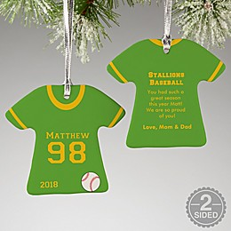 Baseball Sports Jersey T-Shirt Christmas Ornament Collection