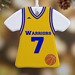 Basketball Sports Jersey T-Shirt 1-Sided Christmas Ornament
