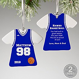 Basketball Sports Jersey T-Shirt Christmas Ornament Collection