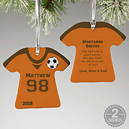 Soccer Sports Jersey T-Shirt Christmas Ornament Collection