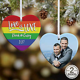 Love Is Love Heart Christmas Ornament Collection