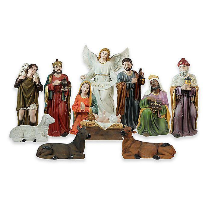 Northlight 11-Piece 39-Inch Indoor/Outdoor Nativity Set ...