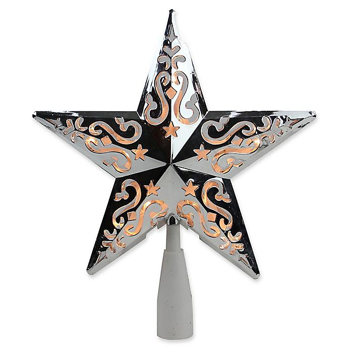 Alternate image 1 for Northlight 8.5-Inch Lighted Star Christmas Tree Topper in Silver