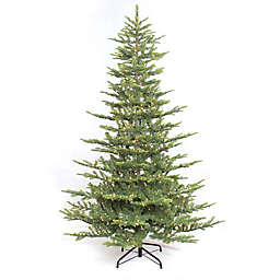 Puleo International 6.5-Foot Pre-Lit Aspen Fir Christmas Tree
