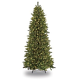 Puleo International Slim Fir Pre-Lit Christmas Tree
