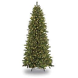 Puleo International Slim Fir Pre-Lit Christmas Tree