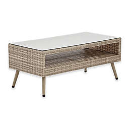 INK+IVY Avery II Rectangle Coffee Table in Light Grey