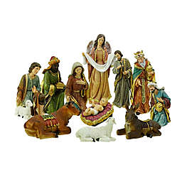 Northlight 11-Piece Religious Christmas Nativity Set in Gold