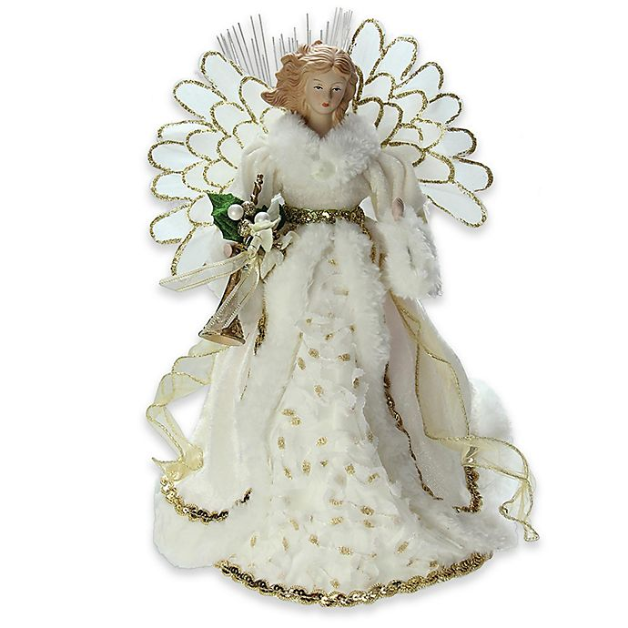 Alternate image 1 for 14-Inch Battery Operated Angel Christmas Tree Topper