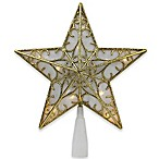 Northlight 9-Inch Lighted Star Christmas Tree Topper in Gold