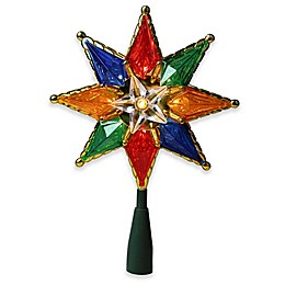 Northlight 8-Inch Multicolor Lighted Christmas Tree Topper with Clear Lights