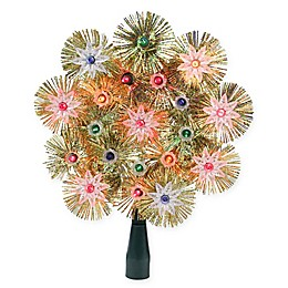 Northlight 8-Inch Lighted Christmas Tree Topper in Gold