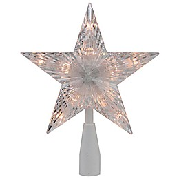 Northlight Star 7-Inch Lighted Christmas Tree Topper with Clear Lights