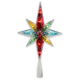 Northlight Star 10.75-Inch Lighted Christmas Tree Topper in Multi with Clear Lights