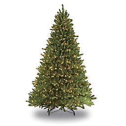 Puleo International 6.5-Foot Frasier Fir Pre-Lit Artificial Christmas Tree with Clear Lights