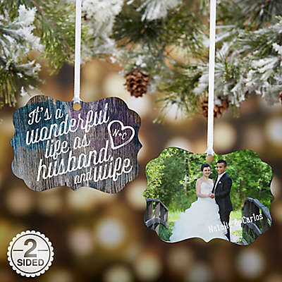 Wonderful Life As Husband & Wife Photo Christmas Ornament