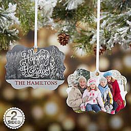White Christmas Photo Ornament