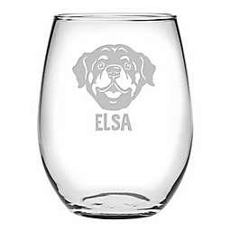 Susquehanna Glass Rottweiler Face Stemless Wine Glasses (Set of 4)