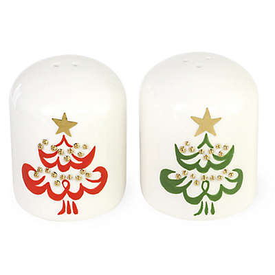 Boston International The Night Before Christmas Tree Salt & Pepper Set