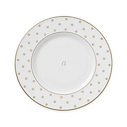 kate spade new york Larabee Road™ Gold Monogrammed Letter Accent Plate