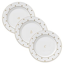 kate spade new york Larabee Road™ Gold Monogrammed Letter Tidbit Plates (Set of 4)