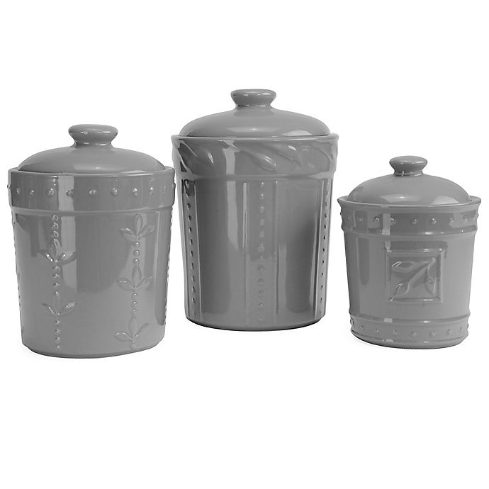 Signature Housewares Sorrento 3 Piece Canister Set Bed Bath Beyond