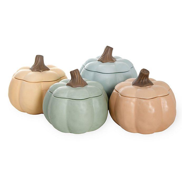 Alternate image 1 for Boston International Pumpkin Soup Bowls  in Peach (Set of 4)