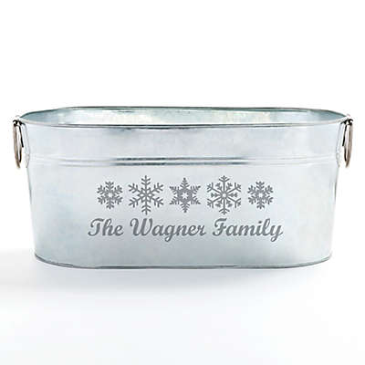 Happy Holidays Beverage Tub in Silver