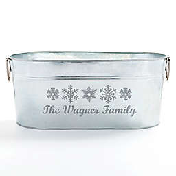 Happy Holidays Beverage Tub in Silver