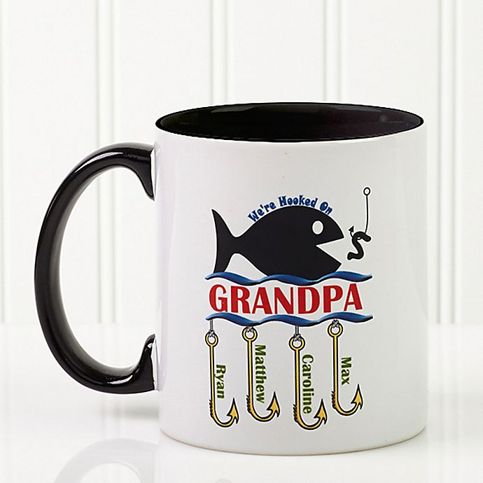Alternate image 1 for Hooked on You 11 oz. Coffee Mug in Black
