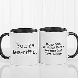 Expressions 11 oz. Coffee Mug in Black/White