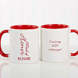 Bridal Brigade 11 oz. Wedding Coffee Mug in Red/White