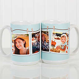 3 Photo Collage 15 oz. Coffee Mug in White