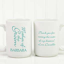 Bridal Brigade 15 oz. Wedding Coffee Mug in White