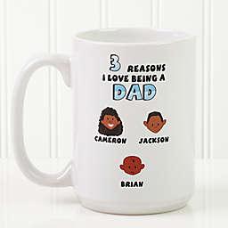 His Reasons Why 15 oz. Coffee Mug in White