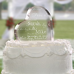 From This Day Forward Cake Topper & Keepsake