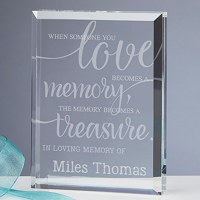 Alternate image 1 for Memory Becomes A Treasure Engraved Keepsake