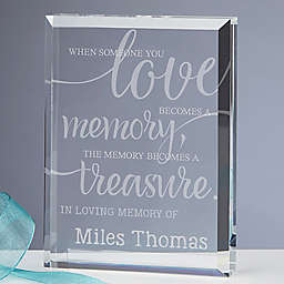 Memory Becomes A Treasure Engraved Keepsake