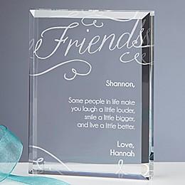 Friends Forever Engraved Keepsake