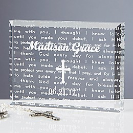 I Thank God Baptism Keepsake