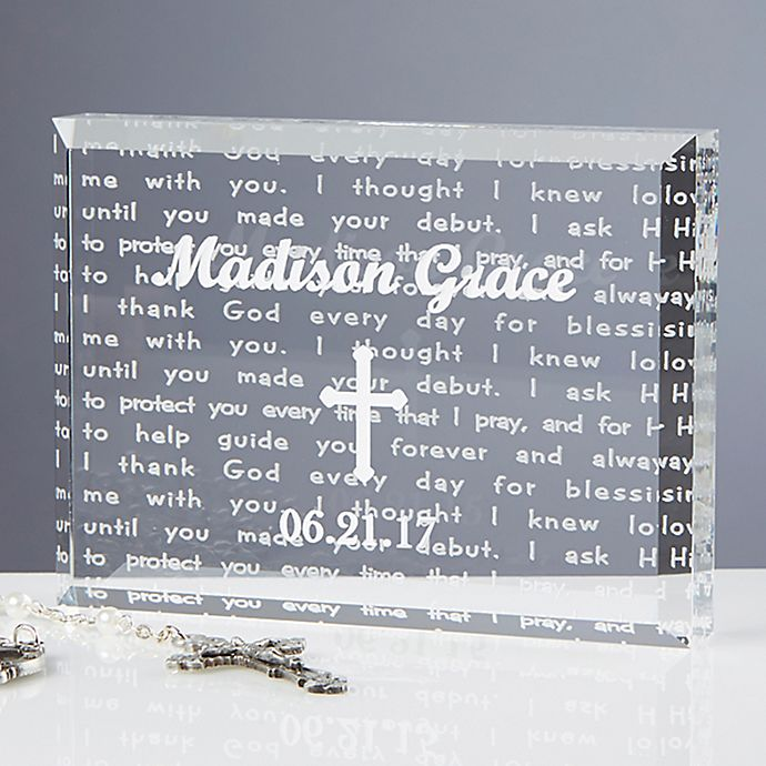 Alternate image 1 for I Thank God Baptism Keepsake