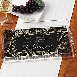 Family Blessings Personalized Acrylic Serving Tray