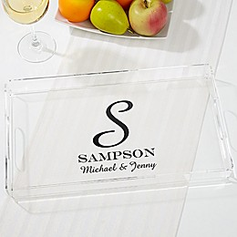 Family Monogram Personalized Acrylic Serving Tray