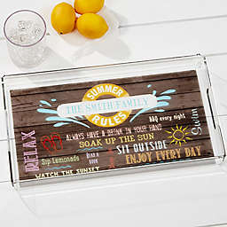 Summer Rules Personalized Acrylic Serving Tray