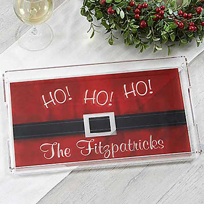 HO! HO! HO! Santa Belt Serving Tray